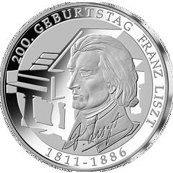 200 Geburtstag Franz Liszt Mdm Deutsche Münze