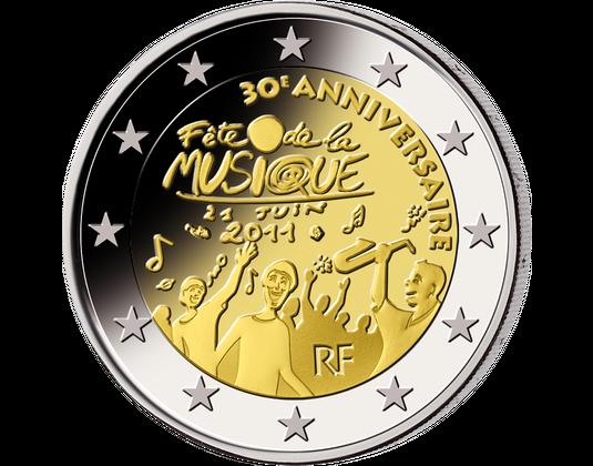 2 Euro Frankreich 2011 Fête De La Musique Mdm Deutsche Münze