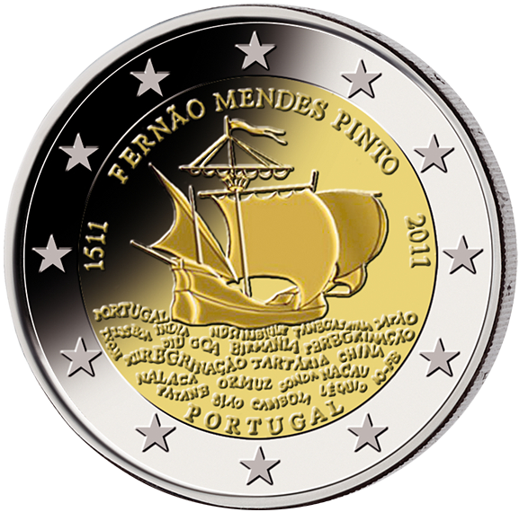 2 € Portugal 2011 Fernao Mendes Pinto