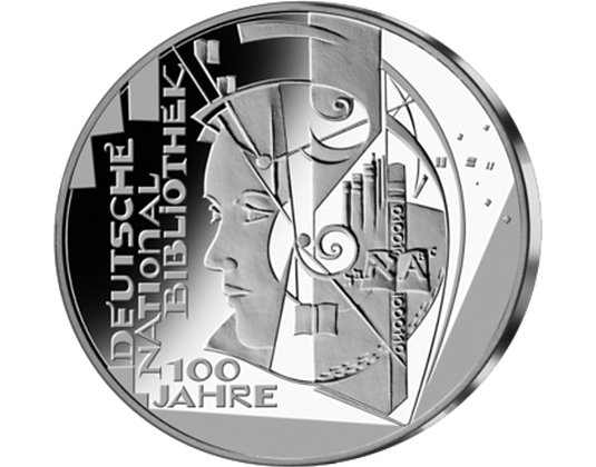 10 Euro Münze 2012 100 Jahre Nationalbibliothek Mdm Deutsche Münze