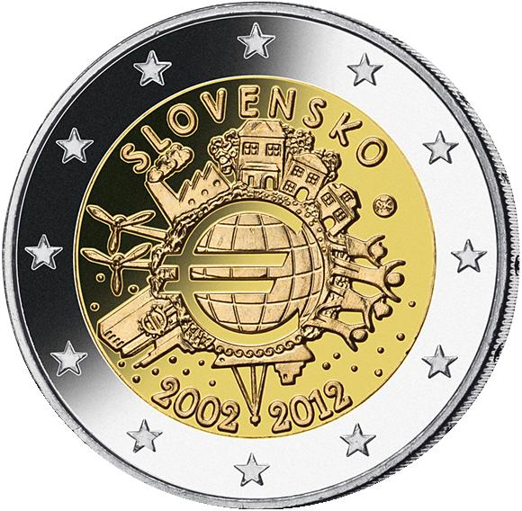 2 Euro Münze 10 Jahre Währungsunion Münzen Günstigerde