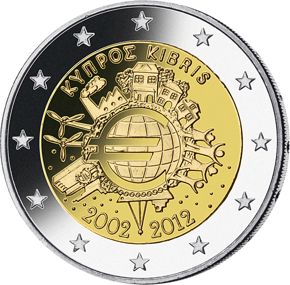 2 Euro 10j Währungsunion Münzen Günstigerde