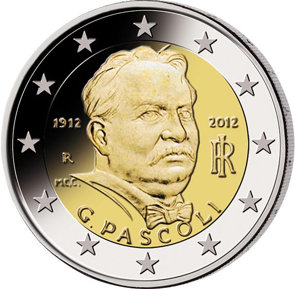 2 Euro Giovanni Pascoli Italien 2012 Münzen Günstigerde