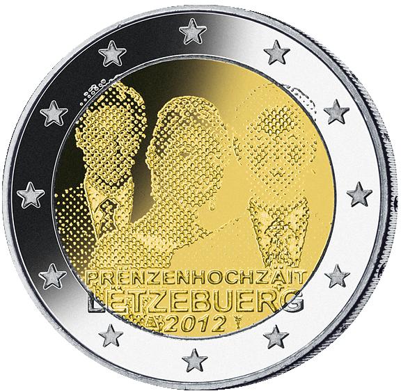 2 Euro Hochzeit Guillaume Luxemburg 2012 Münzen Günstigerde