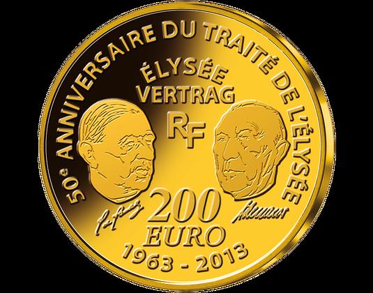 Die Euro Gedenkmünzen 50 Jahre élysée Vertrag Mdm Deutsche Münze