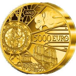 """1-Kilo-Gold-Gedenkmünze """"850 Jahre Notre-Dame de Paris"""""""