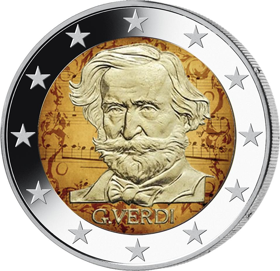 2 Euro Giuseppe Verdi Italien 2013 Münzen Günstigerde
