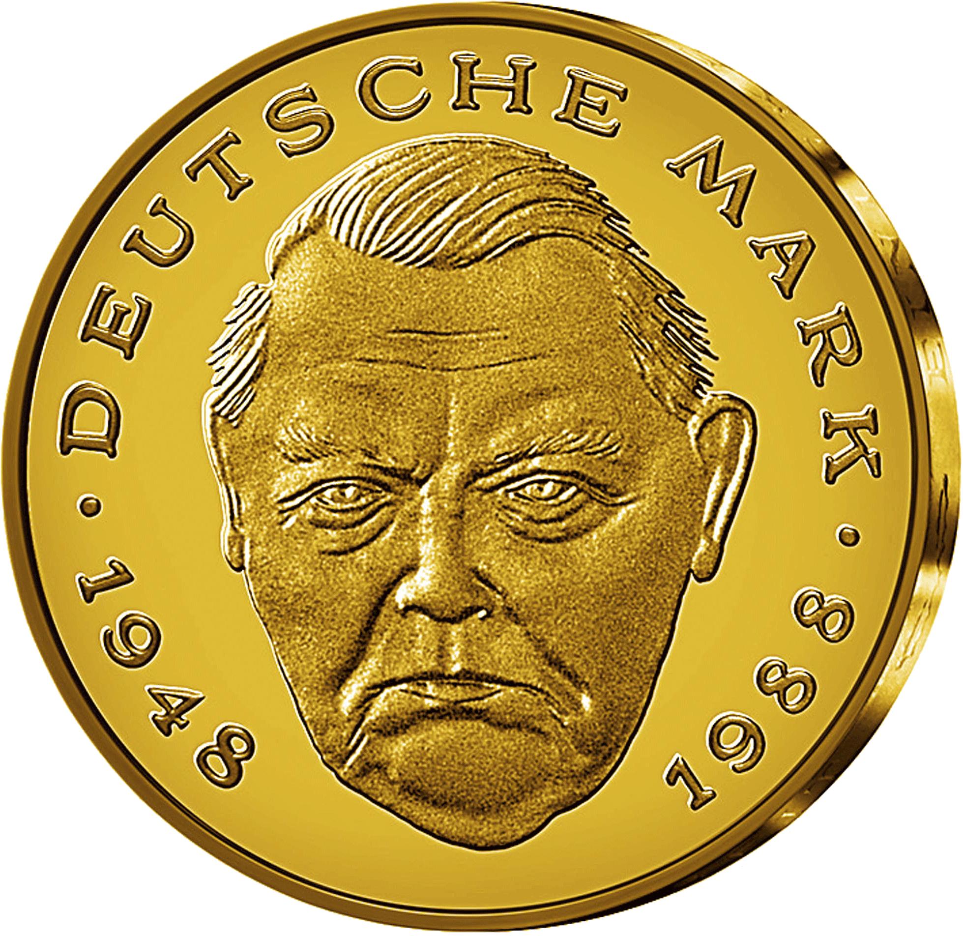 2 Dm Münzen Goldveredelt Münzen Günstigerde