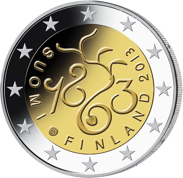 2 € Münze Finnland Parliamentary Session 2013