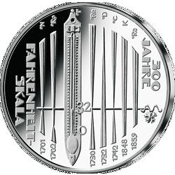 10 Euro Gedenkmünze 2014 - 300 Jahre Fahrenheit-Skala