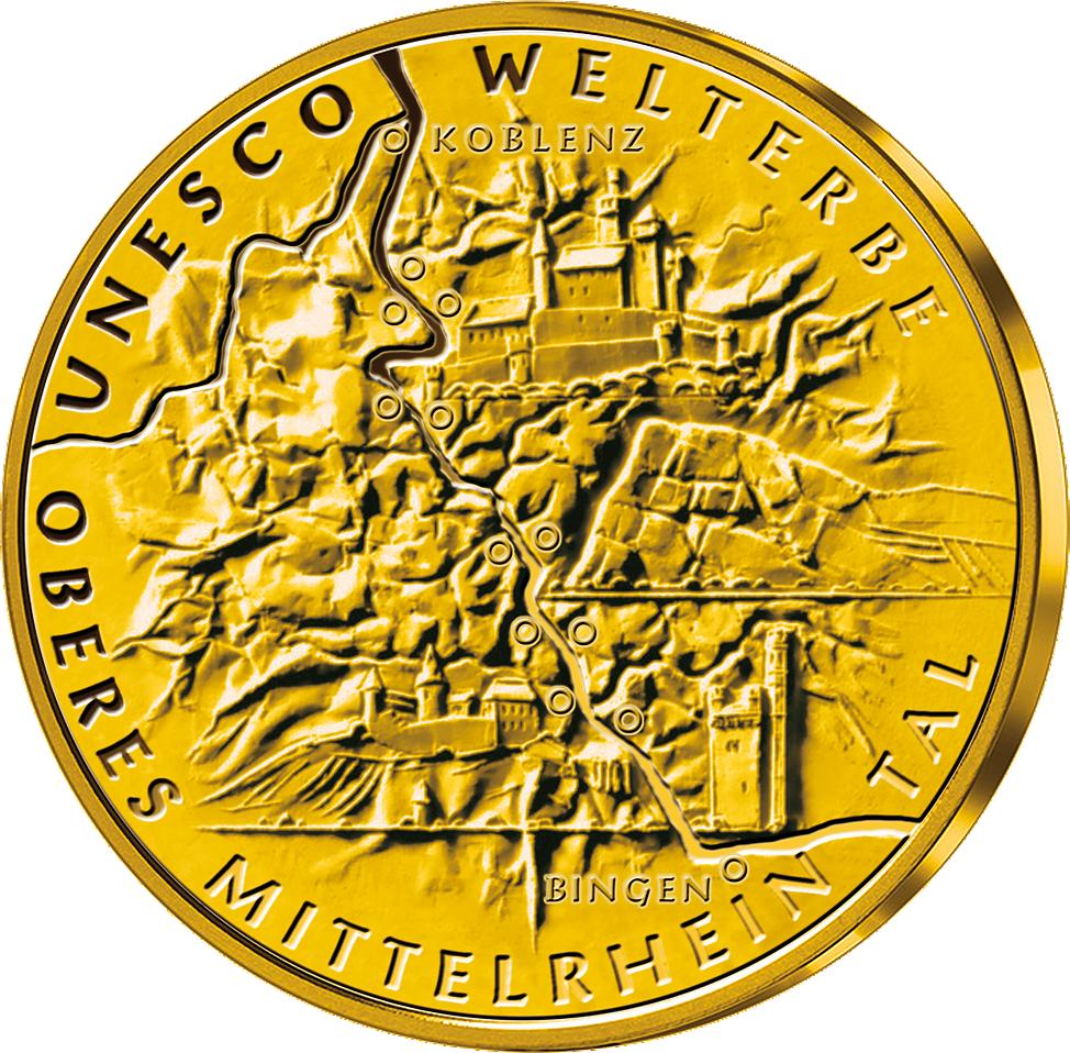 100 Euro Gold Münze 2015 Mittelrheintal Münzen Günstigerde