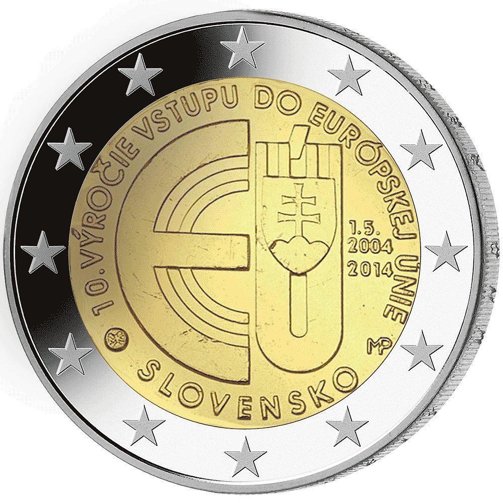 2 Euro Münze 10 Jahre Eu Beitritt Münzen Günstigerde