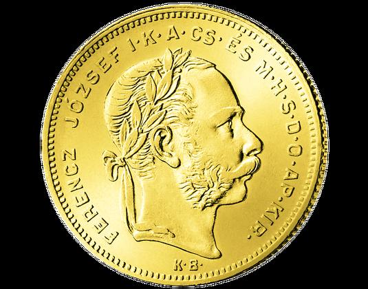 Goldmünzen Aus österreich Ungarn 8 Gulden Mdm Deutsche Münze