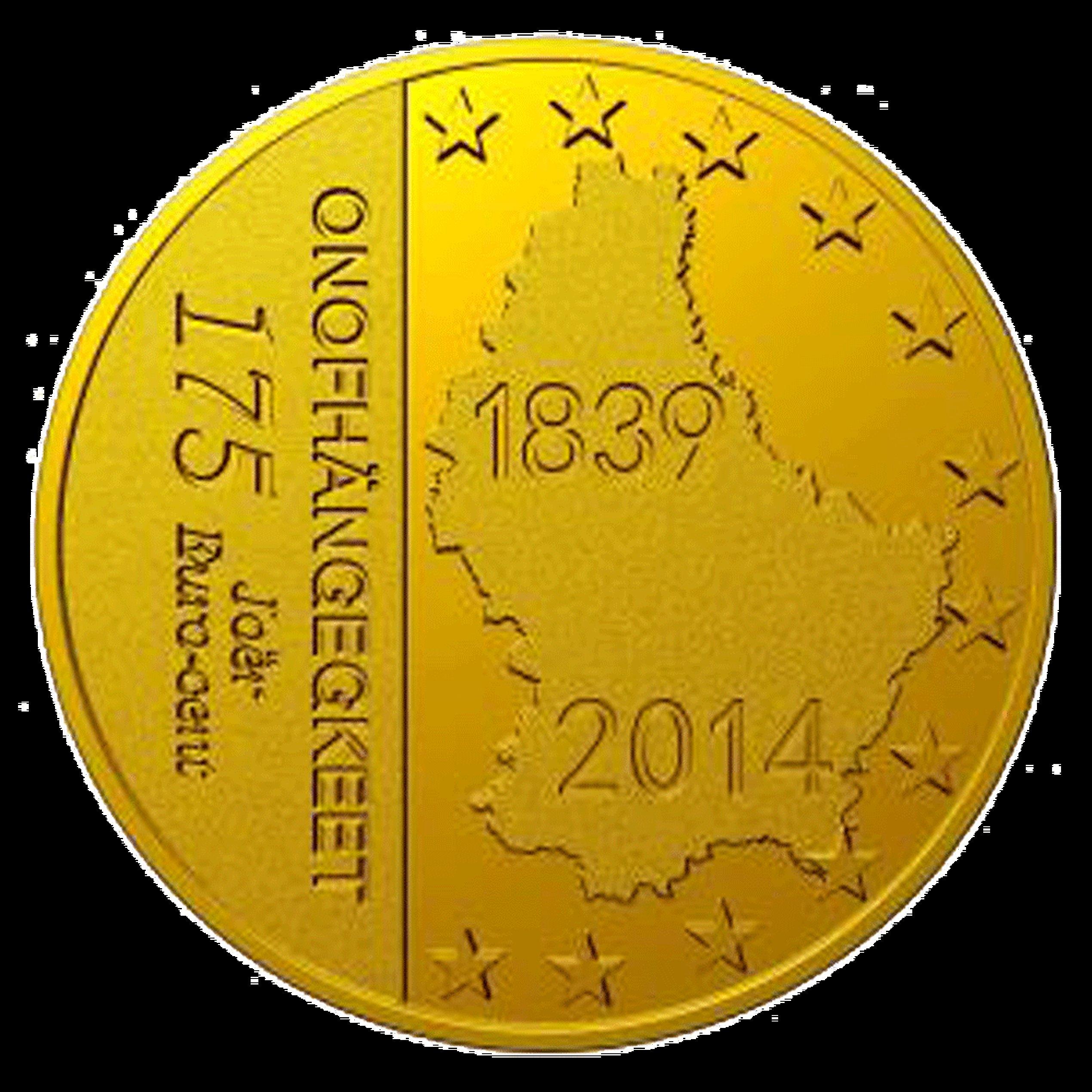 175 Euro Cent Münze 175 Jahre Unabhängigkeit Luxemburg 2014