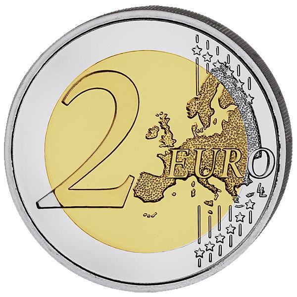 2 Euro Münze Frankreich Waffenstillstand Kornblume 2018 Bfr