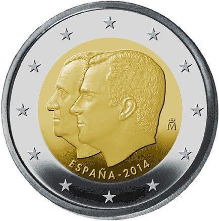 2 Euro Münze König Felipe Vi Spanien 2014 Münzen Günstigerde