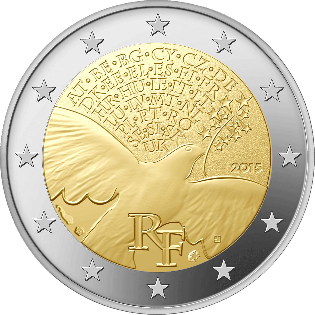 2 Euro Münze Frankreich 30 Jahre Mauerfall 2019 Bfr Münzen