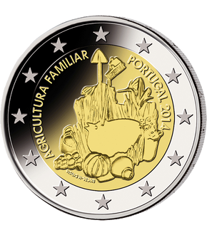 "2 Euro Gedenkmünze ""Agricultura Familiar"" 2014 aus Portugal"