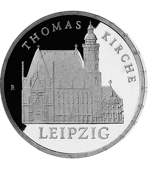 "5 Mark DDR Gedenkmünze ""Thomaskirche Leipzig""!"