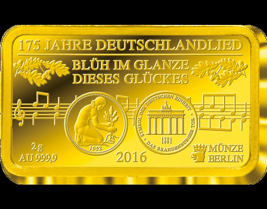 Goldmünze 2016 Sachsen Und Goldbarren Deutschlandlied Mdm Deutsche