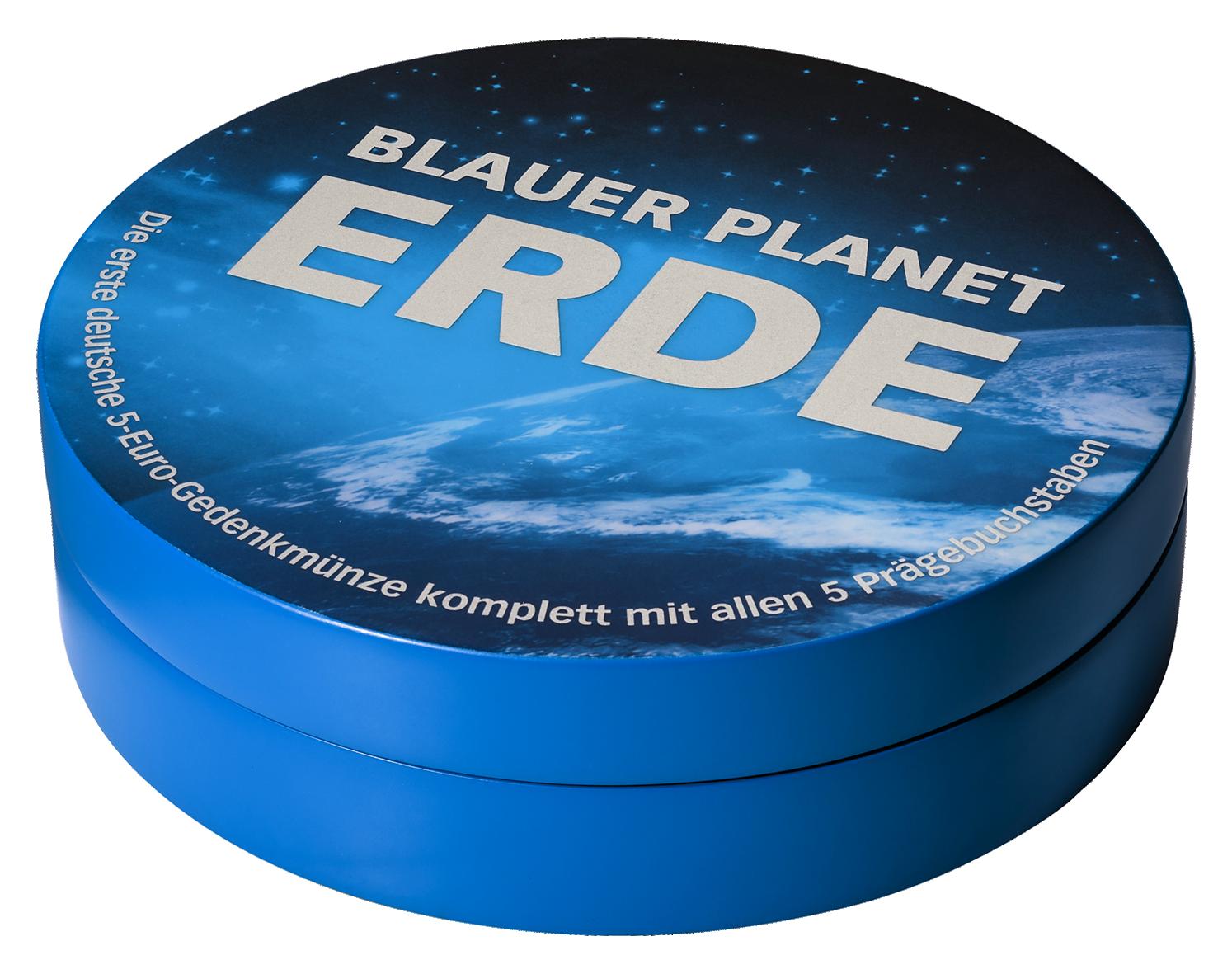 Led Etui 5x5 Euro Blauer Planet Brd Stpp Münzen Günstigerde