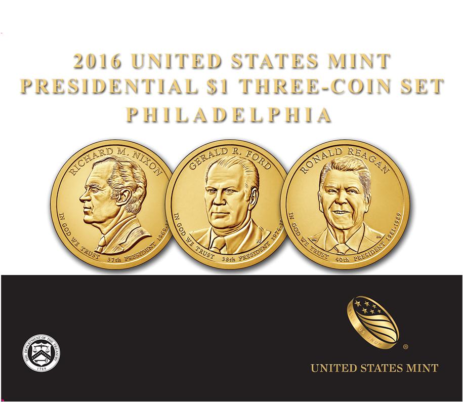 3 X 1 Usd Münzen Usa 2016 Präsidenten Set Bfr Sonstige Neuheiten