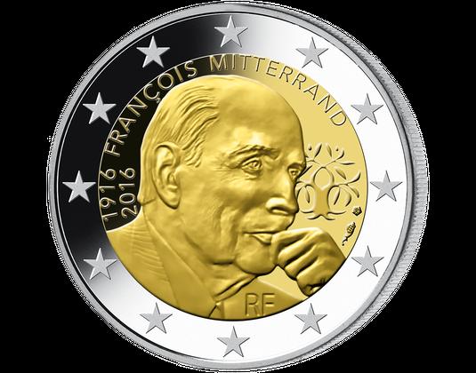 2 Euro Münze François Mitterrand Frankreich 2016 Mdm Deutsche Münze