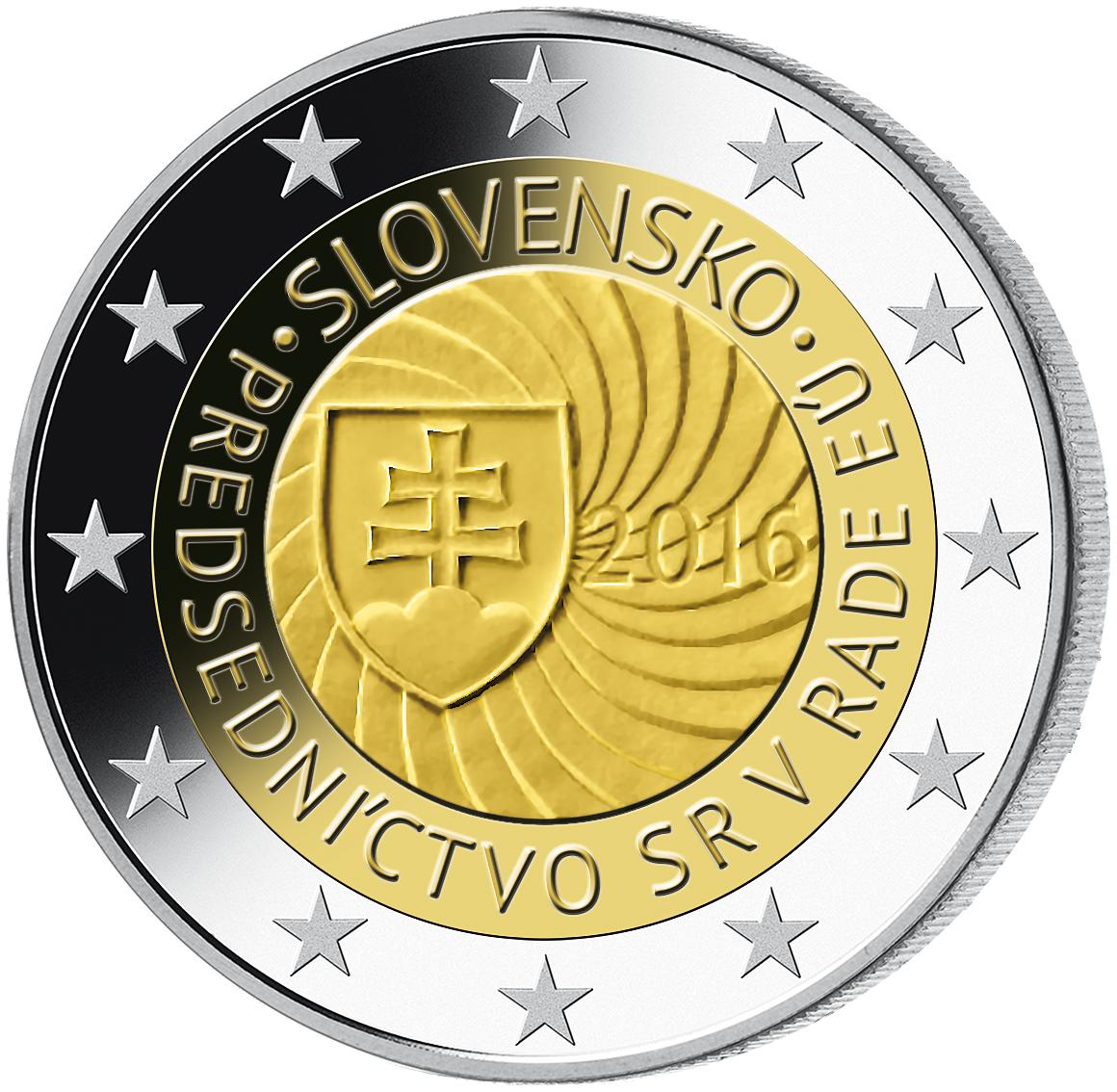 2 Euro Münze Slowakei 1 Eu Ratspräsident 2016 Bfr Münzen Günstigerde