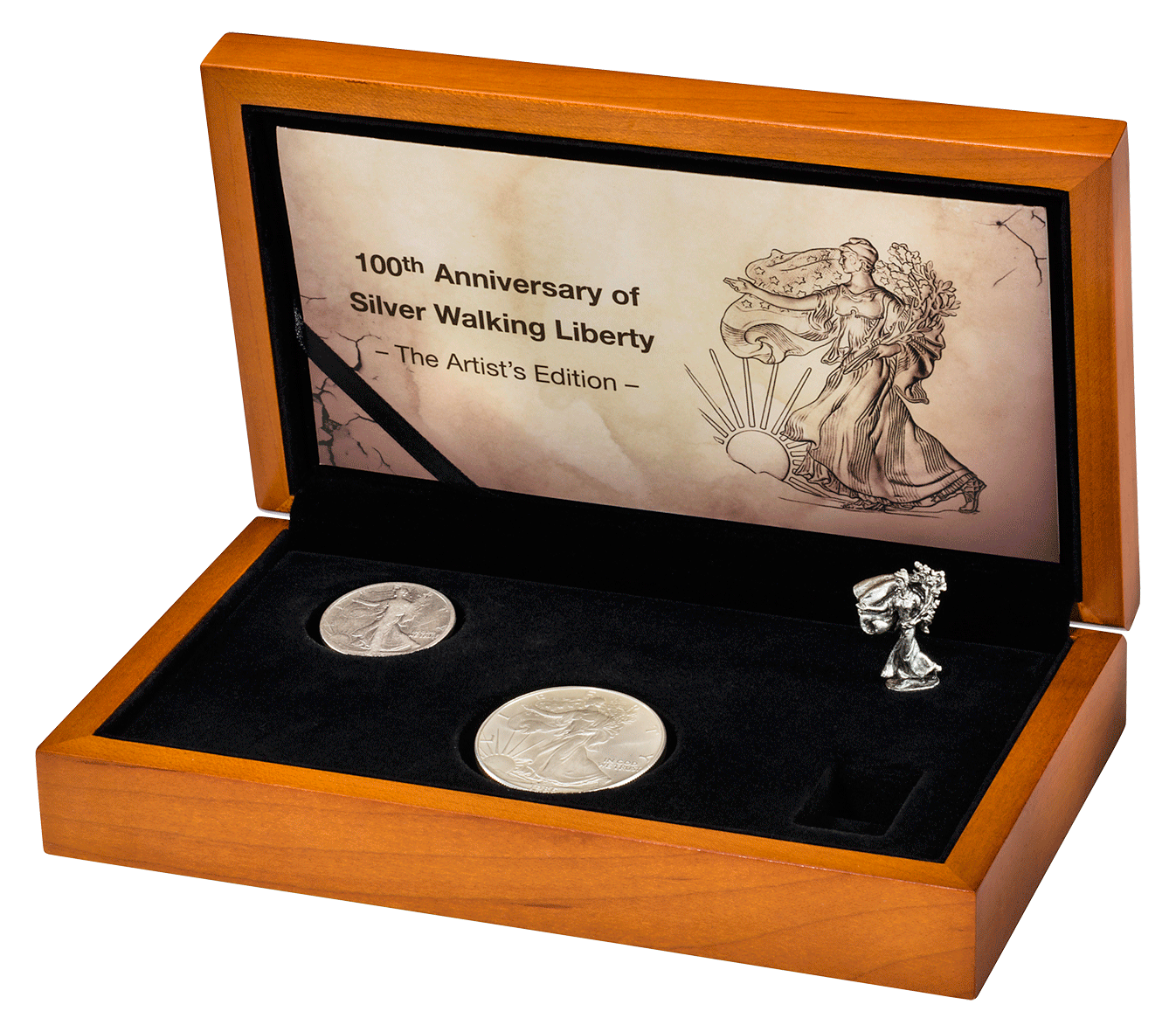 Jubiläums Set USA Walking Liberty Silber