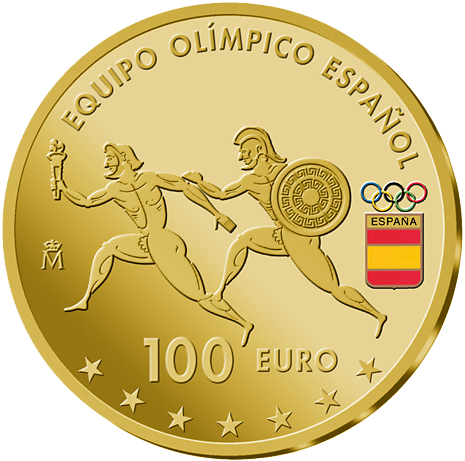 100 Euro Goldmünze Spanien Olympisches Team 2016 PP