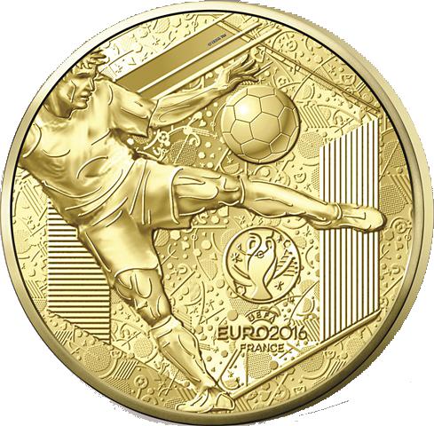 5 Euro Goldmünze Frankreich Uefa Euro 2016 Pp Frankreich Euro