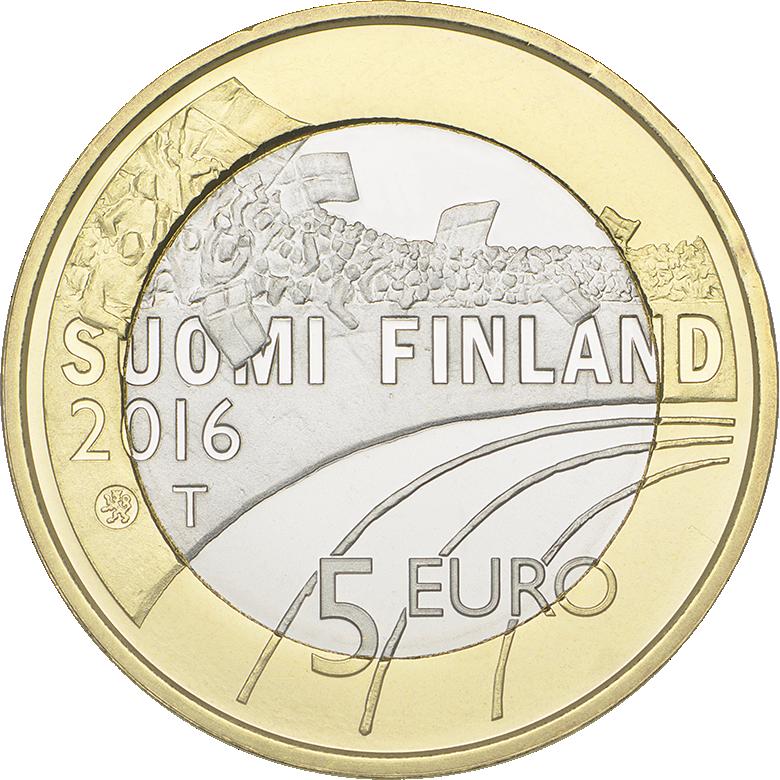 5 Euro Kupfernickel Münze Finnland 2016 Eishockey Bfr Sonstige