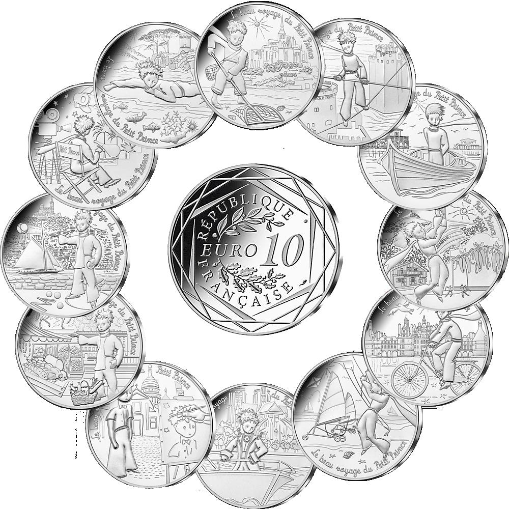Silberset 12 X 10 Euro Der Kleine Prinz 2016 Münzen Günstigerde