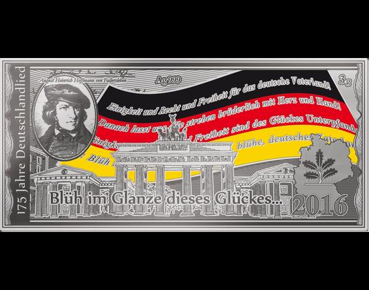 Silbernote 175 Jahre Deutschlandlied Mdm Deutsche Münze