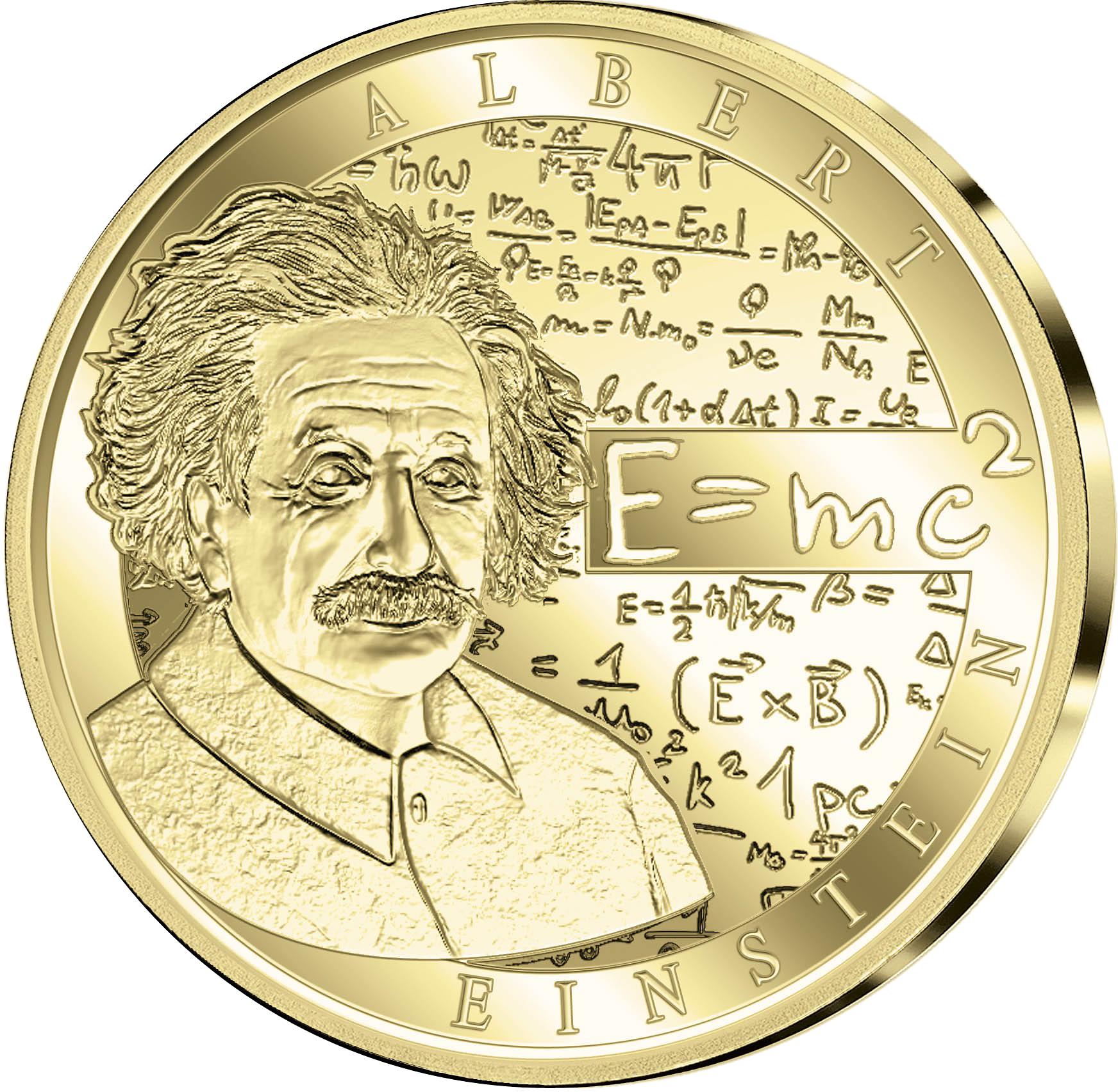 50 Euro Goldmünze Belgien Albert Einstein 100 Jahre