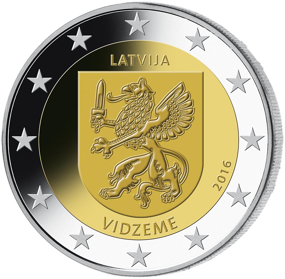 2 Euro Münze Lettland Vidzeme 2016 Bfr Münzen Günstigerde