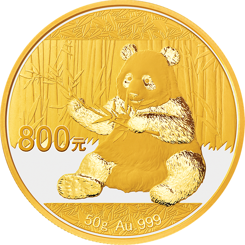 800 Yuan Goldmünzen China Panda 2017 PP