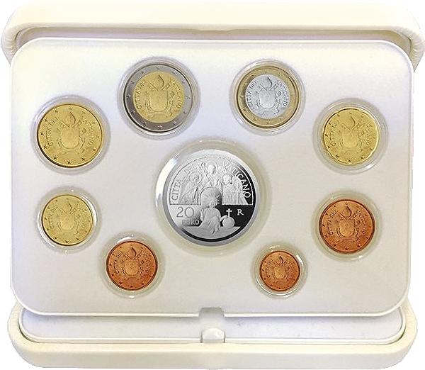 Offizieller Kursmünzensatz Vatikan Inkl 20 Euro Silbermünze