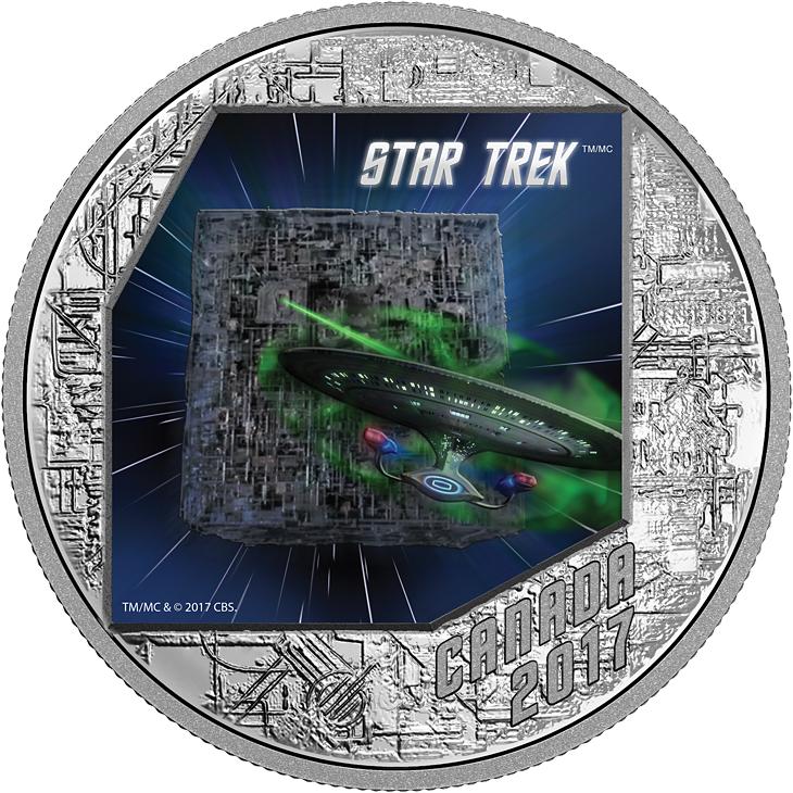 20 Cad Silbermünze Kanada Star Trek Die Borg 2017 Pp Münzen