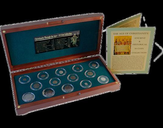 14 Teiliges Bronze Und Silbermünzen Set Zur Geschichte Des