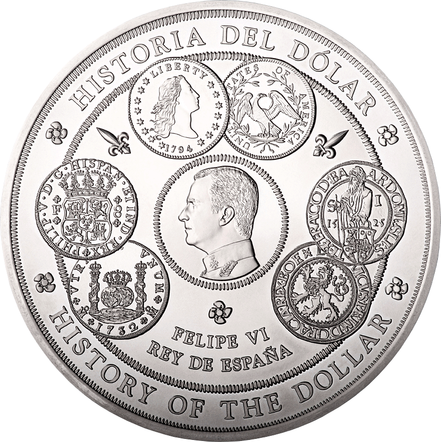 300 Euro Silbermünze Spanien Geschichte Des Dollars 2017 Pp
