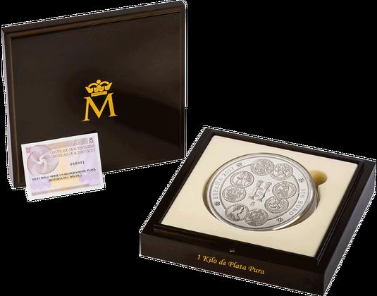 Spanien 2017 Silbermünze Geschichte Des Dollars Mdm Deutsche Münze