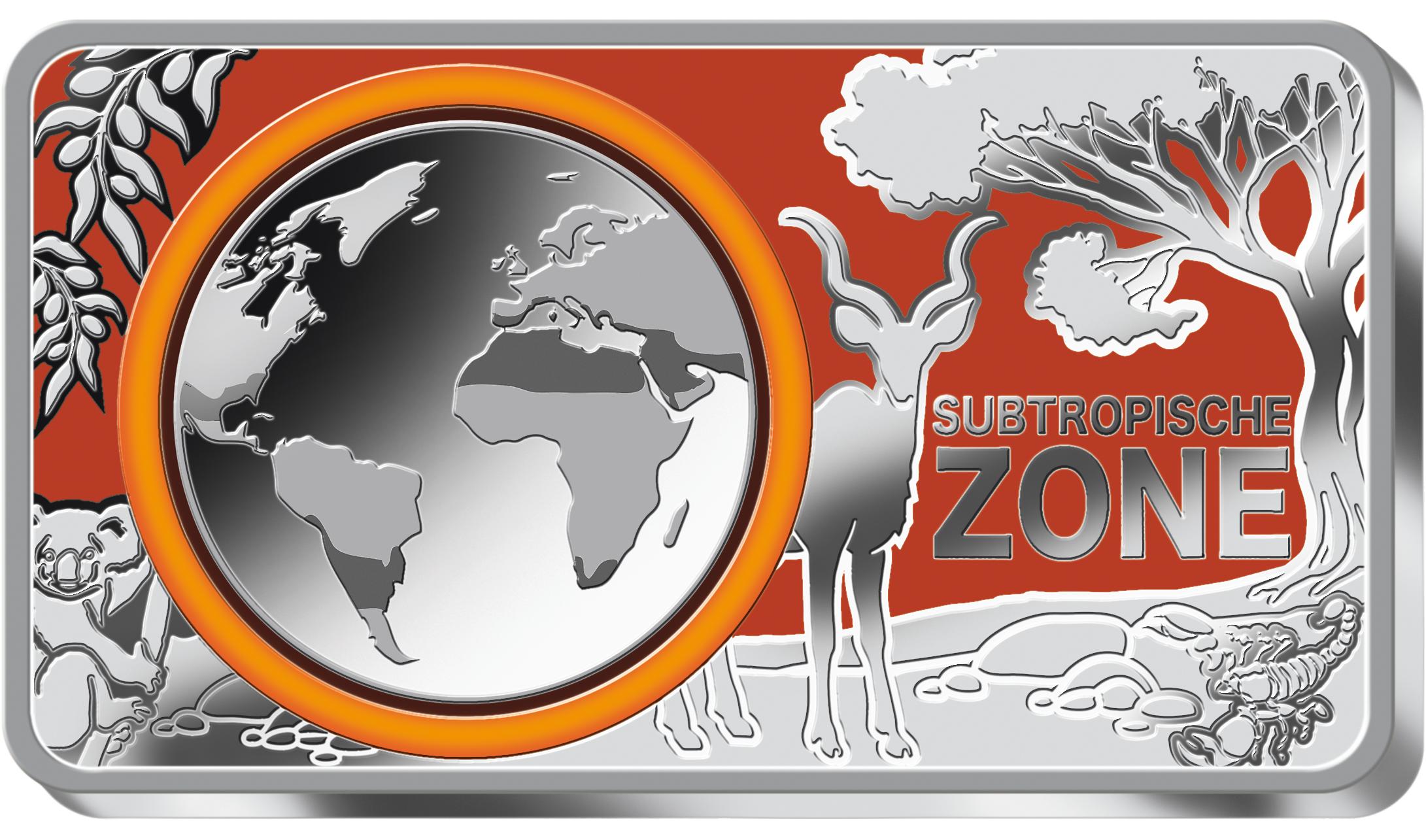 12 Oz Silber Barren Ergänzend Zur 5 Euro Münze Subtropische Zone Pp