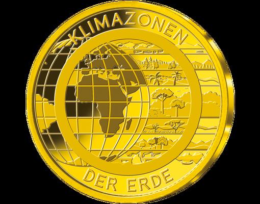 Die Klimazonen Der Erde Erstmals In Reinstem Gold 9991000