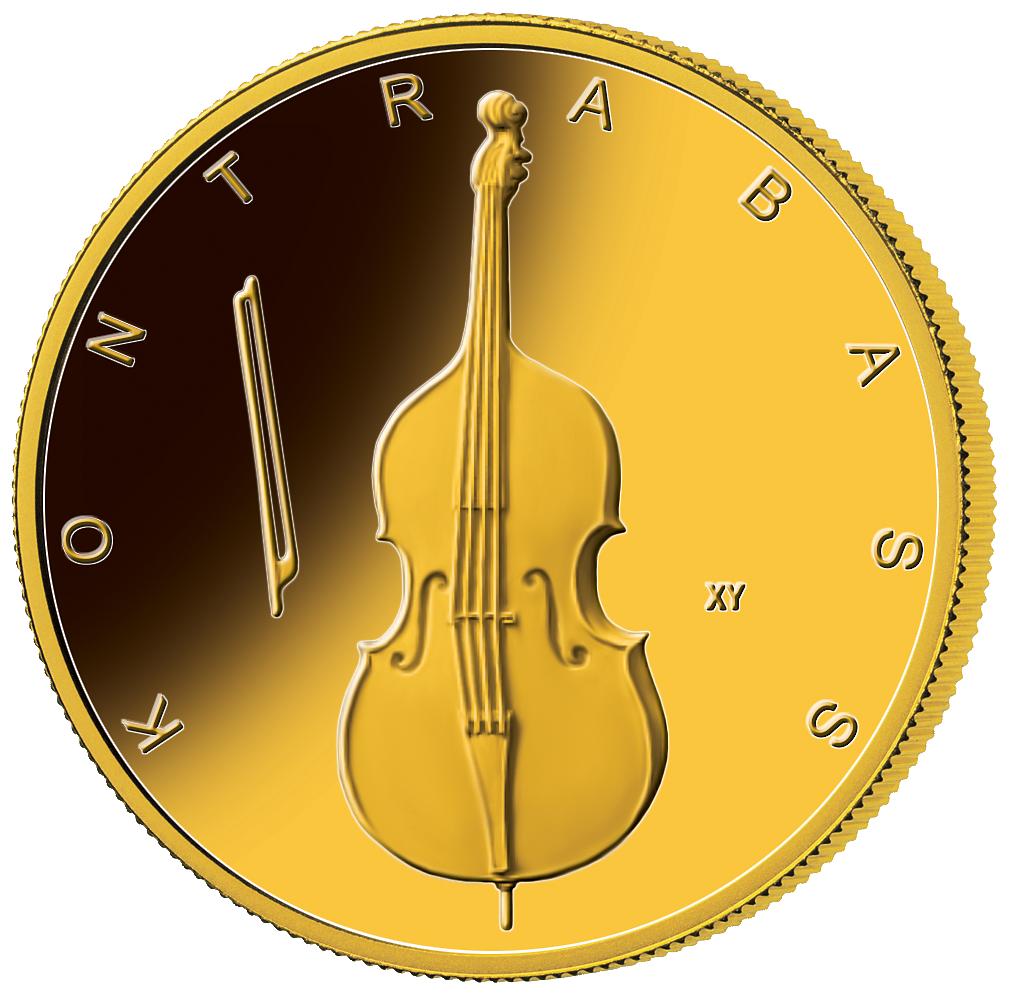 50 Euro Gold Münze Brd 2018 Kontrabass St Münzen Günstigerde