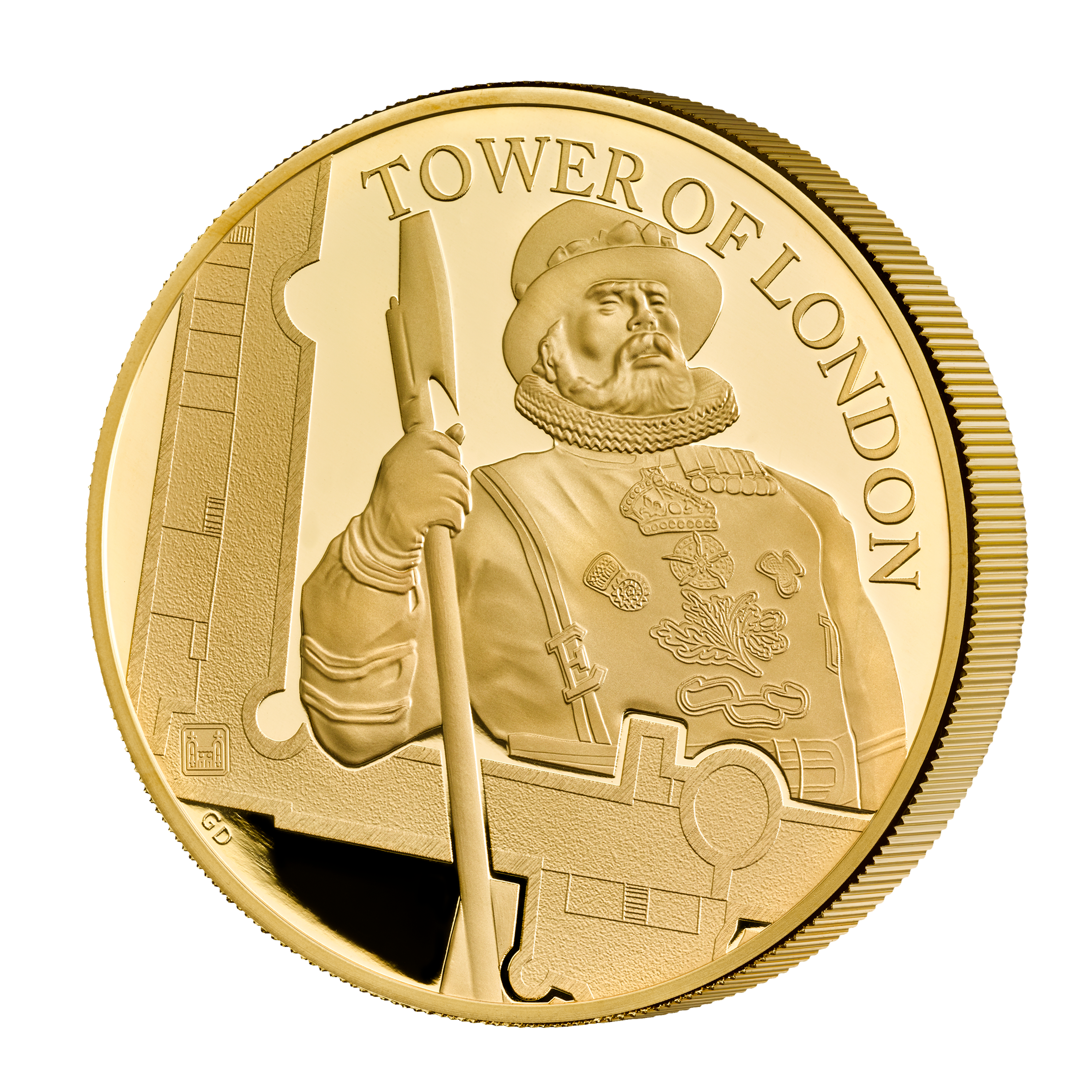 10 GBP Goldmünze Großbritannien The Tower of London - Die Yeoman Warders 5oz 2019 PP