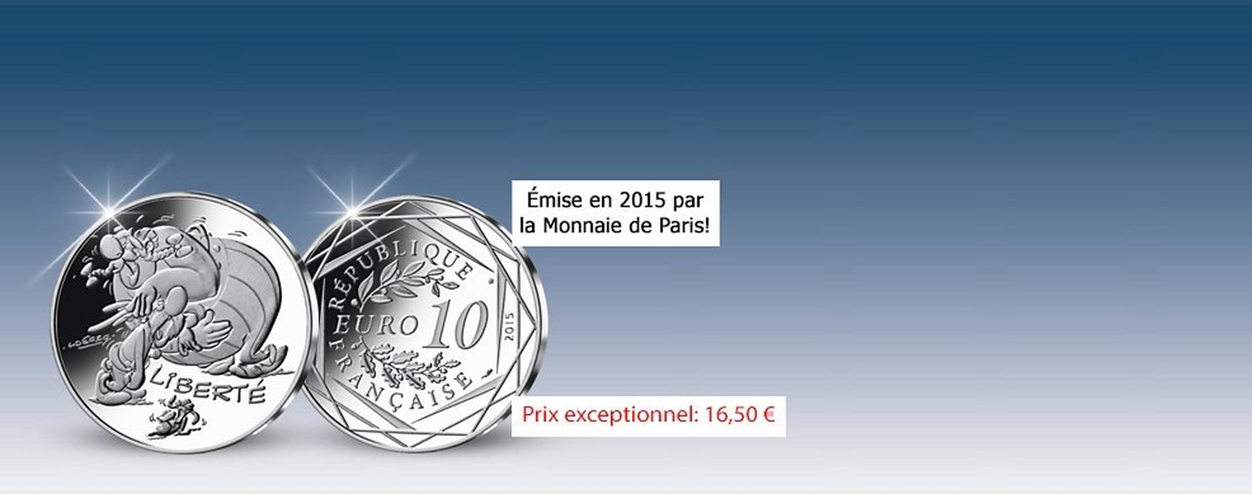 MDM - Pièce Astérix et les Euros Valeurs de la République