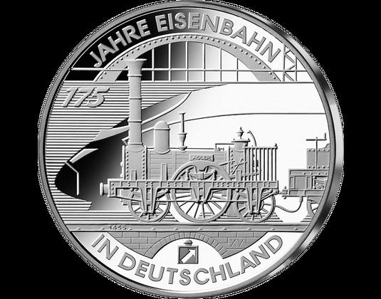10 Euro Münze 175 Jahre Eisenbahn Mdm Deutsche Münze