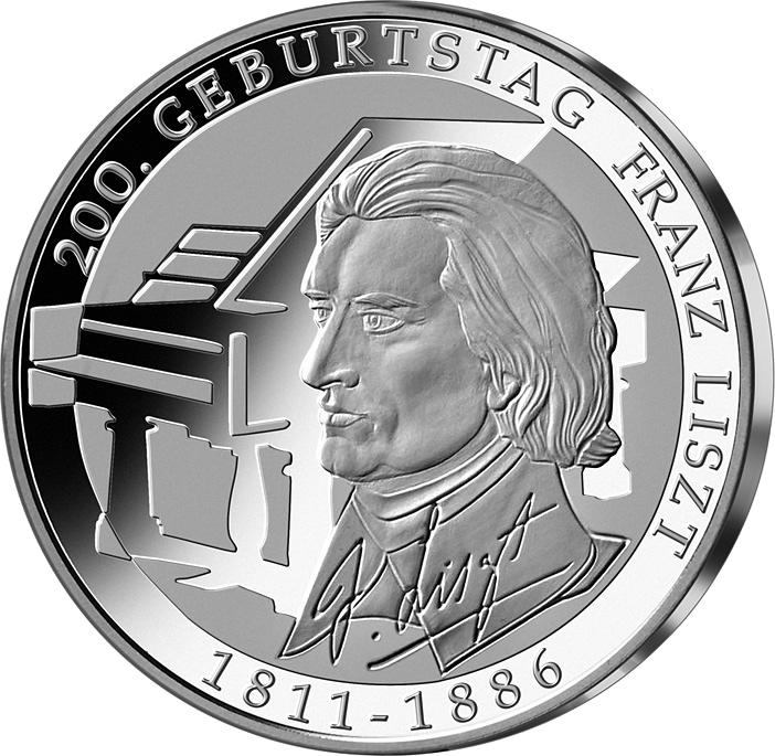 10 Euro Silber Münze Franz Liszt 2011 10 Euro Münzen Euro Münzen