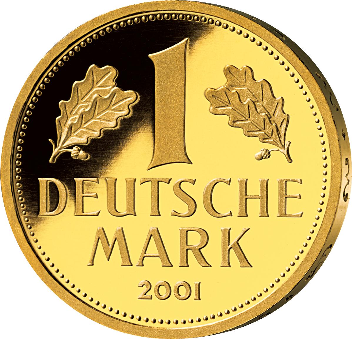 1 Dm Goldmünze 2001 Münzen Günstigerde